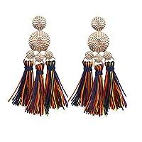 beiguoxia Gorgeous Earrings Women Fashion Thread Tassel Pendant Statement Dangle Drop Earrings Jewelry Gift - Multicolor Earrings
