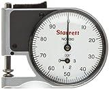 Starrett 1010RZ quadrante tasca indicatore calibro, stelo 0,6cm di diametro, White Dial, 0–100Reading, 0–0,7cm Range, 0cm Graduation