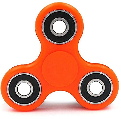 Ubitree Hand Spinner Fidget Tri Spinner EDC Focus Toy for Whole age section 9 colour(orange)
