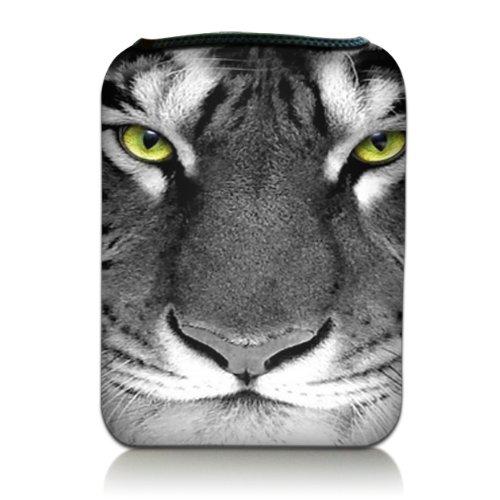 Luxburg® Design Tasche Hülle Sleeve Schutzhülle für Kindle Fire HD 7 | Samsung Galaxy Tab 3 (7 Zoll) | Asus Google Nexus 7 | Odys Pedi Plus (7 Zoll) | Asus Google MeMO Pad HD 7 | Samsung Galaxy Tab 2 (7 Zoll) | Kindle Fire HDX 7 | Lenovo IdeaTablet (7 Zoll), Motiv: Tigeraugen (Kinder Hülle Memo Für Asus Pad 7)