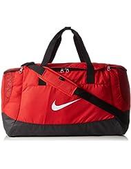Nike Club Team Swoosh Duff L - Bolsa para hombre, color rojo / negro / blanco, talla única