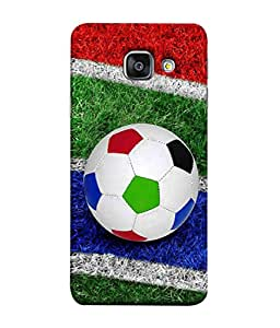 PrintVisa Colourful Football 3D Hard Polycarbonate Designer Back Case Cover for Samsung Galaxy A3 (6) 2016 :: Samsung Galaxy A3 2016 Duos :: Samsung Galaxy A3 2016 A310F A310M A310Y :: Samsung Galaxy A3 A310 2016 Edition