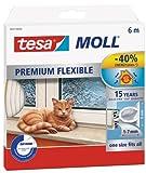 Tesa 05417-00100-01 Guarnizione in Gomma per Porte e Finestre in Silicone, Bianco