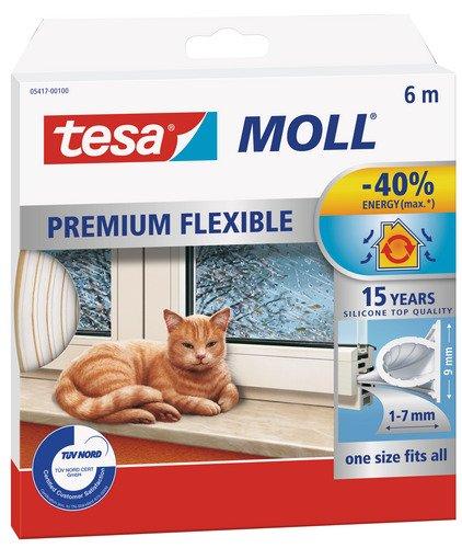 Tesa Zugluftstopper Omega-Profil 6m Weiß