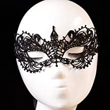 FIODAY Women Special Bat Design Masquerade Prom Mask Cosplay Costume Holloween Balls Fancy Lace Cutout Mask by Janecrafts