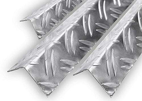 Aluminium Warzenblech Duett Winkel Riffelblech Aluwinkel Kantenschutz 1,5/2mm 50x30x1,5mm 2000mm