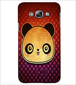 Printdhaba Panda Face D-3417 Back Case Cover For Samsung Galaxy A7