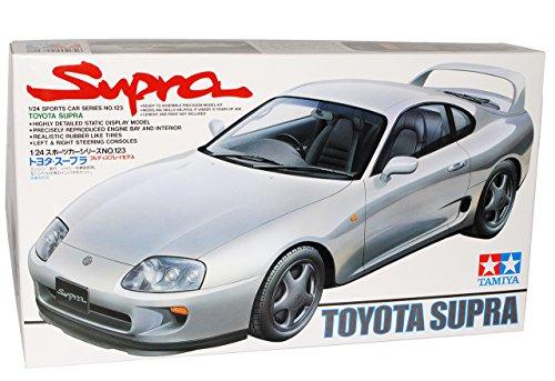 TAMIYA Toyota Supra Coupe Silber MKIV 1993-2002 Kit Bausatz 1/24 Modell Auto mit individiuellem Wunschkennzeichen
