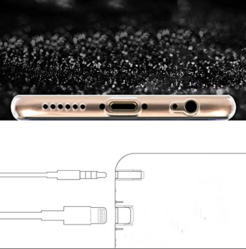Sunroyal® Case Cover per Apple iPhone 6 6S 4.7, Bumper Custodia [Assorbimento urti] Bling Glitter Soft Morbido TPU Gel Silicone Protettivo Copertura Shell - Rosa Verde