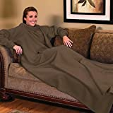Snuggle Comfy Blanket with Sleeves - Coffee