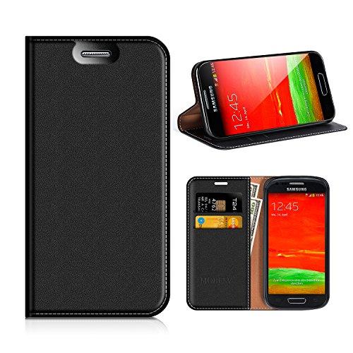 MOBESV Custodia in Pelle Samsung Galaxy S3 Mini, Custodia Samsung Galaxy S3 Mini Cover Libro/Portafoglio Porta per Cellulare Samsung Galaxy S3 Mini - Nero