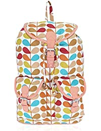 Amit Bags Beautiful Printed Cotton Canvas Back Pack Bag Girls And Women ( Multi Colour)