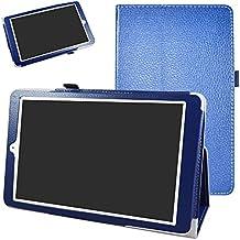 """Alcatel Onetouch PIXI 3 (10) Funda,Mama Mouth Slim PU Cuero Con Soporte Funda Caso Case para 10.1"""" Alcatel One Touch Pixi3 10 Android Tablet,Azul oscuro"""