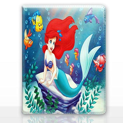 Apple iPad Mini 4 Folio Disney Karikatur Hülle / Schützendes PU Leder Smart Flip Hülle / iCHOOSE / Ariel - Felsen