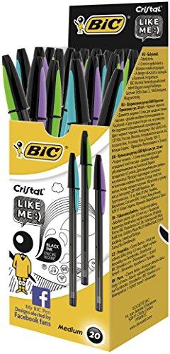 bic-cristal-like-me-punta-media-1-mm-confezione-20-penne-colore-nero