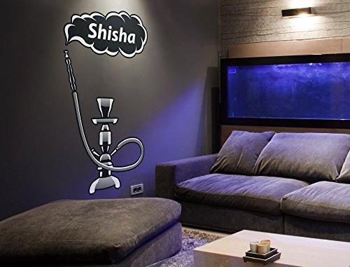 I-love-Wandtattoo WAS-11447 Wohnraum Orient Wandsticker 'Shisha Lounge mit Dampfwolke und...