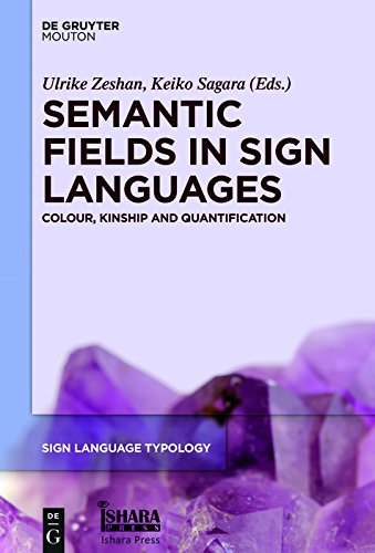 Semantic Fields in Sign Languages: Colour, Kinship and Quantification (Sign Language Typology [SLT])