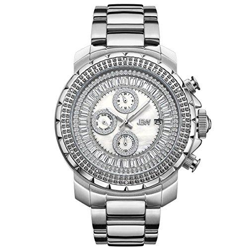 Jbw orologio da uomo con cristalli Swarovski diamante argento