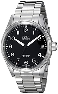 Oris Men's Propilot 41mm Steel Bracelet & Case Automatic Watch 75176974164mb