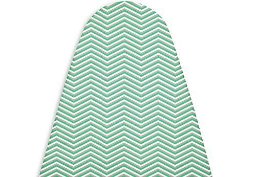 Encasa Homes Bügeltischbezug mit 3 mm Filzpad, Anziehen mit Kordelzug (Passend für Große Standardbretter (122 x 38 cm)) Wärmereflektierend, Scorch & Fleck resistent, gedruckt - schwarzer Pfeil