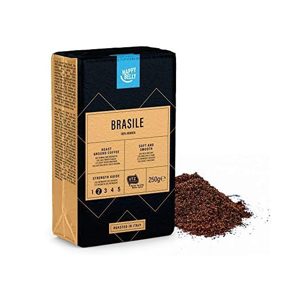 """Marchio Amazon - Happy Belly Caffè tostato macinato """"BRASILE"""" (4 x 250g) 4 spesavip"""