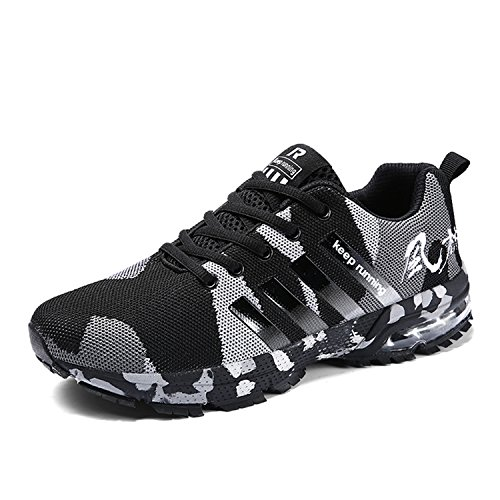 the latest 01ed2 68fac Kuako Men Women Running Shoes Air Trainers Fitness Casual Sports Walk Gym  Jogging Athletic Sneakers Camouflage