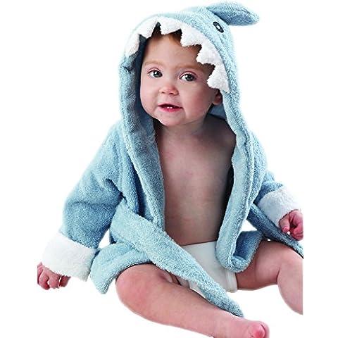 Baby Aspen BA14003BL - Accappatoio a forma di squalo, da