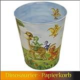 Papierkorb Metall Dinosaurier