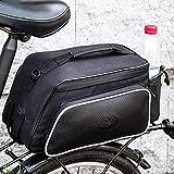 Futurepast Gepäckträgertaschen, Fahrradtasche Multifunktions Outdoor Hinten Sitz Trunkbag, Satteltaschen für Rennrad, Wasserdicht Fahrrad Gepäcktaschen mit reflektierender und Regenschutzdeckel 10L