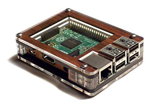 Zebra Case - Raspberry Pi B+ und 2B Gehäuse (Walnuss)