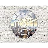 Fototapete Fenster nach New York Vlies Wand Tapete Wohnzimmer Schlafzimmer Büro Flur Dekoration Wandbilder XXL Moderne Wanddeko - 100% MADE IN GERMANY - Steinwand Fenster Runa Tapeten 9055010a