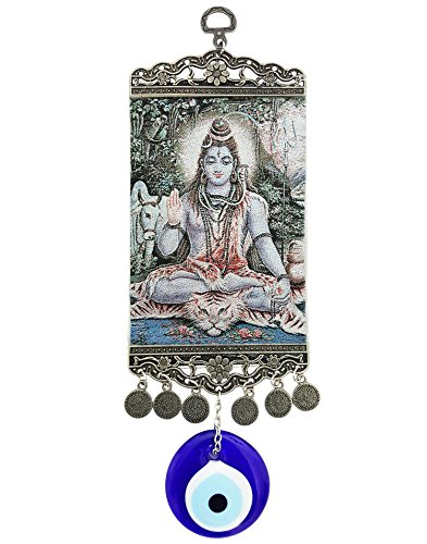 Mehrunnisa Turkish Evil Eye Lord Shiva Feng Shui Good Luck Charm Hanging...