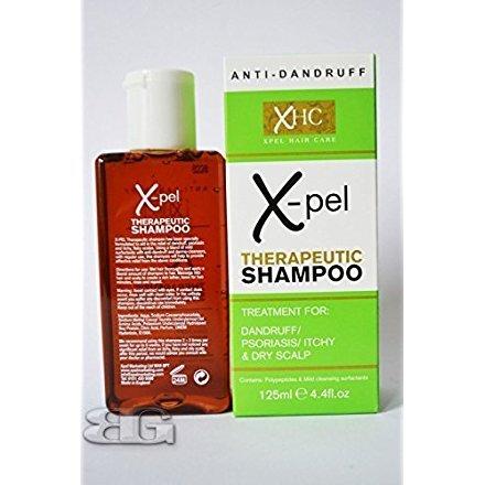 Xpel Lot Shampooing thérapeutique Traitement anti pellicules psoriasis démangeaisons Cuir Chevelu Sec 125ml
