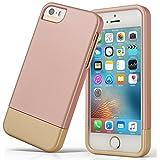 Custodia per iPhone 5S, iPhone se case, Asstar Slider custodia in due colori combinazione progettato custodia protettiva rigida in policarbonato per il Apple iPhone 5/5S/se Oro rosato