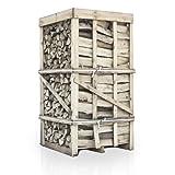 PALIGO Brennholz Kaminholz Feuerholz Grillholz Ofenholz Smokerholz Scheitholz Buchen Holz Trocken Ofenfertig Buche 33cm 2RM = 2,8SRM / 1 Palette HEIZFUXX®