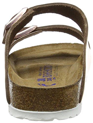 Birkenstock Arizona Leder Softfootbed, Mules femme Rose (Metallic Copper)
