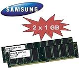 2GB DUAL CHANNEL KIT: SAMSUNG original 2x 1024 MB 184 pin DDR-400 (400Mhz PC-3200 CL3) DIMM 64Mx8x8 single side für PC's - 100% kompatibel zu 333Mhz PC-2700 / 266Mhz PC-2100