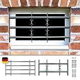 Fenstergitter Sicherheitsgitter Amsterdam ausziehbar in 9 Größen 300x1000-1500 mm