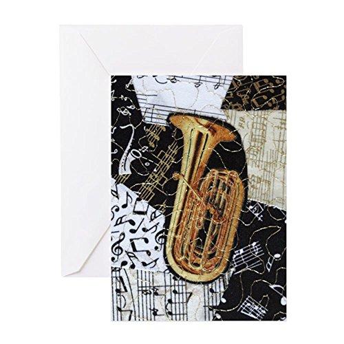 CafePress - Tuba-Ornament - Grußkarte, Notizkarte, Geburtstagskarte, blanko Innenseite matt