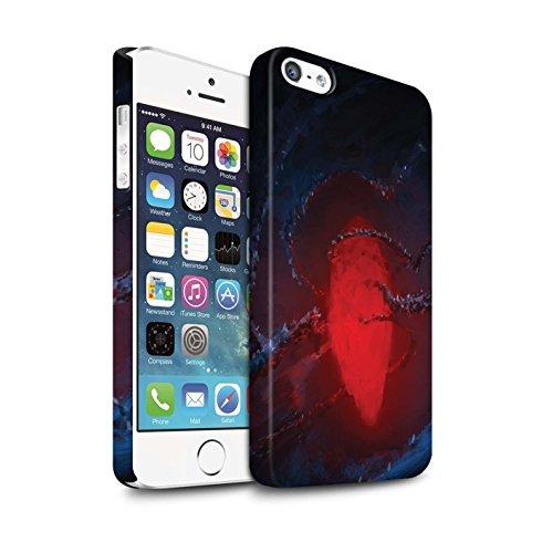 Offiziell Chris Cold Hülle / Matte Snap-On Case für Apple iPhone SE / Pack 12pcs Muster / Fremden Welt Kosmos Kollektion Einfrieren