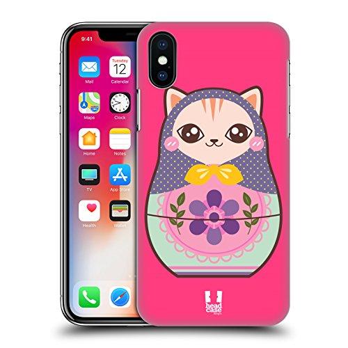Head Case Designs Katze Tier Babuschka-Puppe Ruckseite Hülle für Apple iPhone 7 Plus Katze