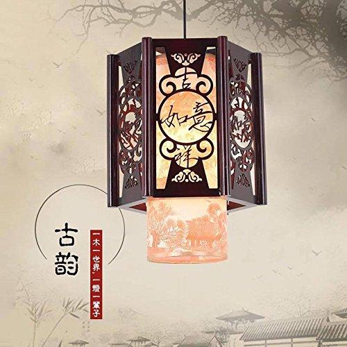 Lx.az.kx e27 moderno lampade a sospensione retro vintage industriale stile moderna cinese luce pendente in salotto mobili d'antiquariato in legno vellum ristorante balcone scala [吉 ]30 * 40,11w-15w