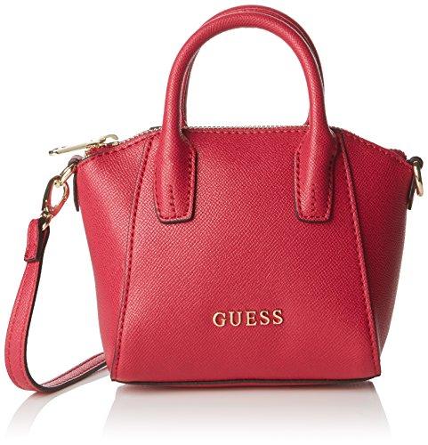 guess-damen-isabeau-mini-satchel-henkeltasche-rosa-fuchsia-taglia-unica