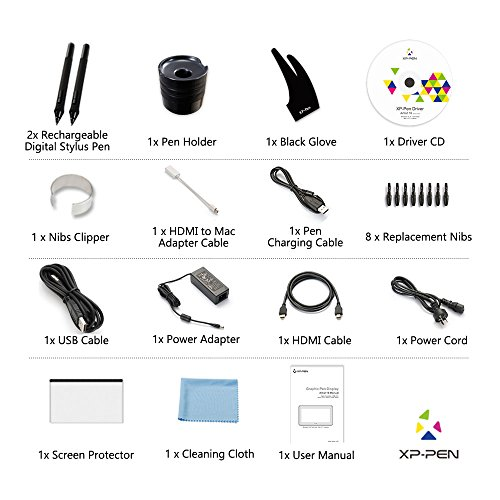 XP-Pen Artist16 15.6 Zoll FHD IPS Pen Zeichen-Display / Grafikmonitor mit Schnellzugriffstasten Ständer -