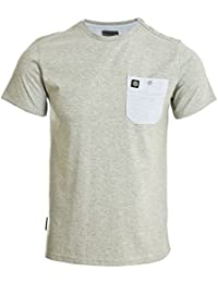 Voi Jeans Cargo Shoulder Button Grey Marl T-Shirt