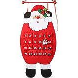 D-FantiX 3D Santa Sentía el Calendario Del Advenimiento, Cuenta Regresiva a Calendarios de Navidad, Xmas Decoraciones Interiores