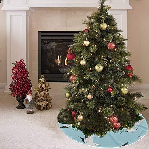 Falda de árbol de navidad Linda gaviota blanca de dibujos animados ...