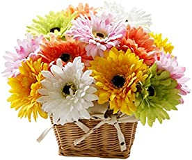 FloraZone Warm Wishes Basket Arrangement of Multicolor Gerberas Same Day Delivery