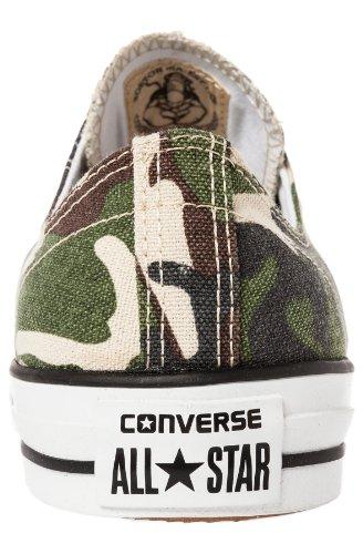 Converse Canvas, Baskets Basses Mixte Adulte Vert - Verde