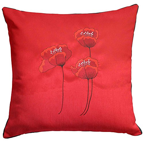 Red Cushion Cover Poppies - 18